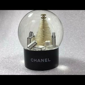 New Authentic Chanel Christmas tree snow globe